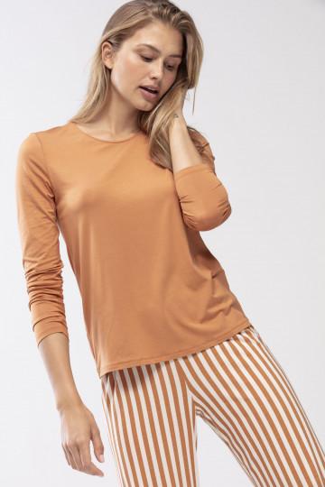 Frontansicht Shirt langarm Mey Lounge 16177 | Mey Bodywear