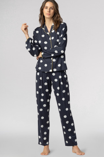 Frontansicht Pyjama Shirt Mey Lounge 16198   Mey Bodywear