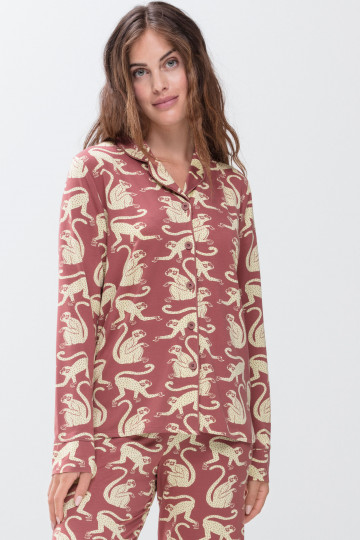 Frontansicht Pyjama Shirt Mey Lounge 16518 | Mey Bodywear