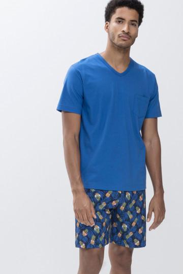 Frontansicht Schlafanzug kurz Mey Club Coll. 33012   Mey Bodywear