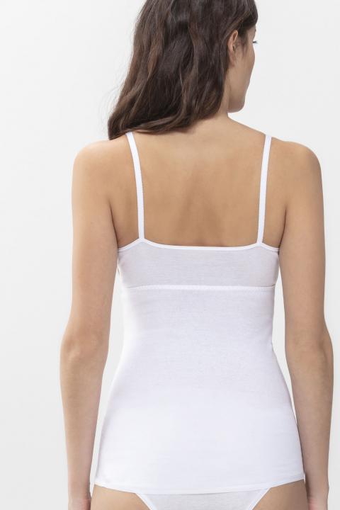 Mey 2000 White Cotton Sleeveless Long Top 25061