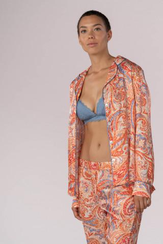 Frontansicht Pyjama Shirt Mey Lounge 16212   Mey Bodywear