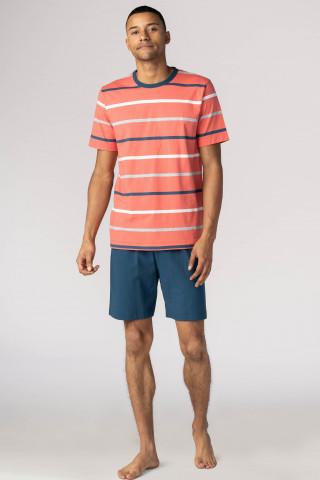 Frontansicht Schlafanzug kurz Flores 21970 | Mey Bodywear