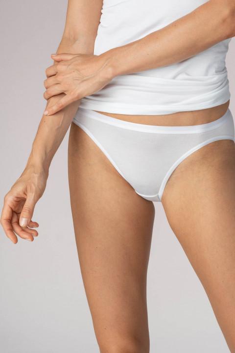 Neu Weiß Damen Slip Unterhose Unterwäsche natur BW Schlüpfer Gr 36 38 40 42 44