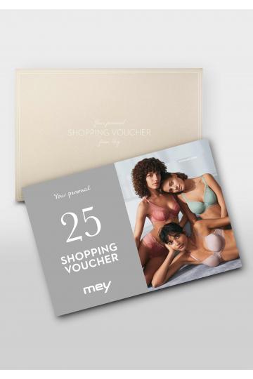 Frontansicht Geschenk-Gutschein 25 Euro 1025-1   Mey Bodywear