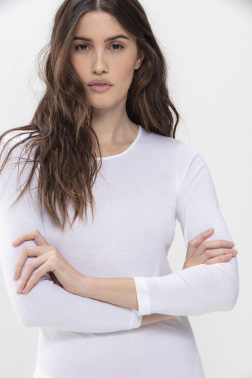 Frontansicht Langarm-Shirt Serie Noblesse 26809   Mey Bodywear