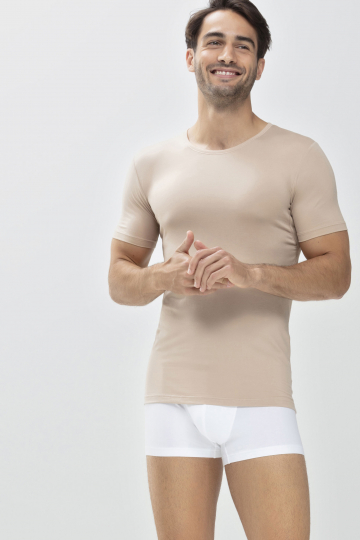 Frontansicht Das Drunterhemd - Crew-Neck | Slim fit Serie Dry Cotton 46092 | Mey Bodywear