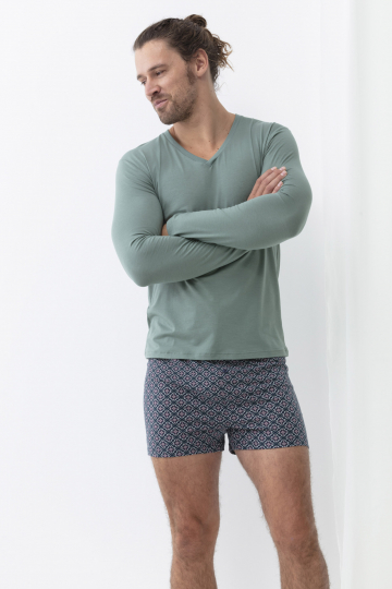Frontansicht Shirt langarm Serie Dry Cotton Colour 46520 | Mey Bodywear