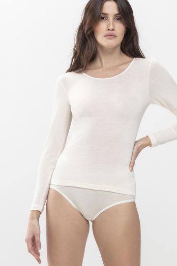 Frontansicht Shirt langarm Serie Exquisite 66577 | mey®