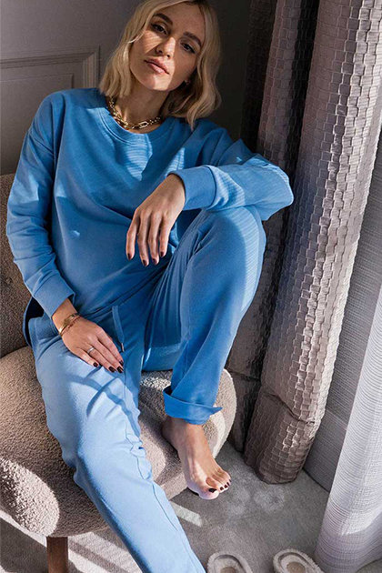 All over blue Loungewear-Look van mey