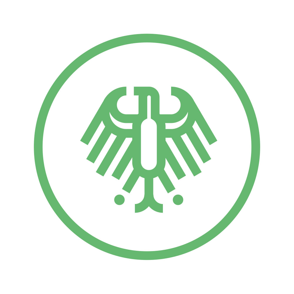 """Icon Grüner Knopf """"Staatlich"""""""