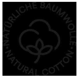 Mey® Icon für natürliche Baumwolle mit Baumwollblüte