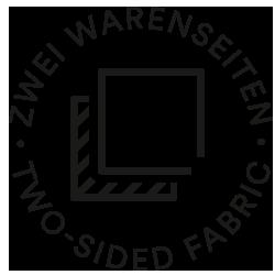 Mey® Icon für zwei Warenseiten, zwei verschiende versetzte Quadrate