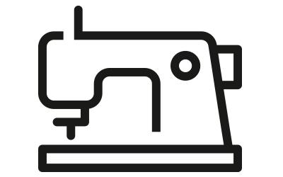 Icon Nähmaschine für die Herstellung des Produkts in der Produktionskette | mey®