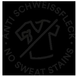 Mey® Icon für Anti-Schweißflecken, T-Shirt mit Schweißfleck ist durchgestrichen