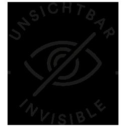 Mey® Icon für unsichtbar, Augensymbol ist durchgestrichen