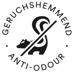 Icon for odour-resistance: crossed-out skunk | mey®