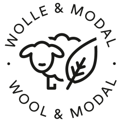 Icon for wool and modal: sheep and leaf combined | mey®
