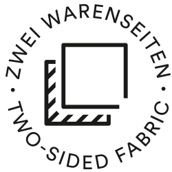 Mey® Icon für zwei Warenseiten, zwei Quadrate versetzt übereinander