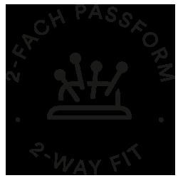 Mey® Icon für zweifach Passform, Nadelkissen mit vier Nadeln