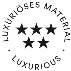 Icon for luxurious material: five stars on two rows | mey®