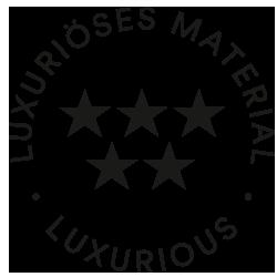 Mey® Icon für luxuriöses Material, fünf Sterne in zwei Reihen