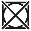 Symbol, keinen maschinellen Trockner verwenden