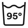 Waschsymbol, Kochwäsche waschbar bis 95° Celsius   mey®