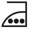 Waschsymbol, Bügeln bis maximal 200 °C für Baumwolle | mey®