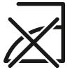 Care symbol: do not iron | mey®