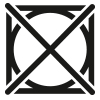Symbol, Trockner bei reduzierter Temperatur verwendbar