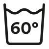 Care symbol: hygienic wash, washable at up to 60 °C | mey®