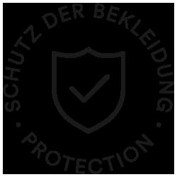 Icon Schutz der Bekleidung, Schild mit Haken | mey®