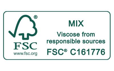 Icon FSC MIX Viscose from responsible sources Zertifizierungs-Siegel | mey®
