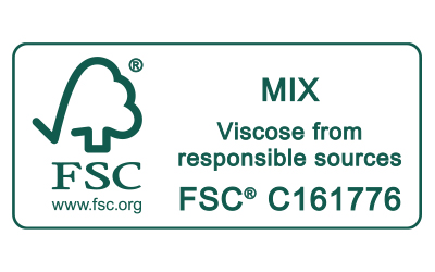 Icon FSC MIX Viscose from responsible sources Zertifizierungs-Siegel für Mey®
