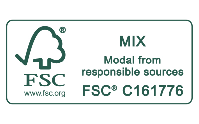 Icon FSC MIX Modal from responsible sources Zertifizierungs-Siegel für Mey®