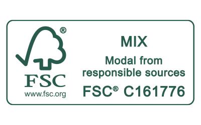 Icon FSC MIX Modal from responsible sources Zertifizierungs-Siegel für Mey®