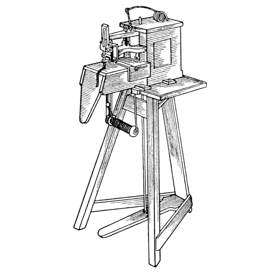 Skizze der Nähmaschine von Barthelemy Thimonnier | mey®