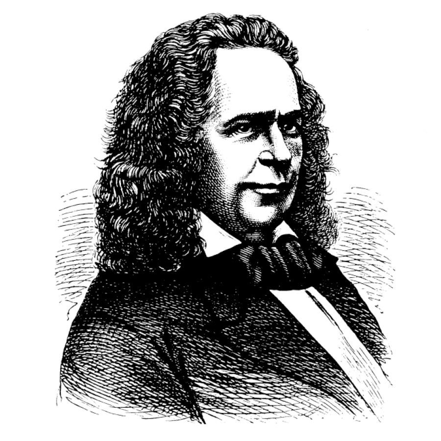 Portrait-Skizze der von Elias Howe, dem Erfinder der Nähmaschine | mey®