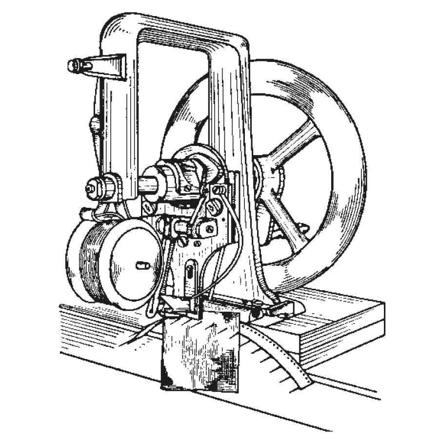 Skizze der Nähmaschine von Elias Howe | mey®