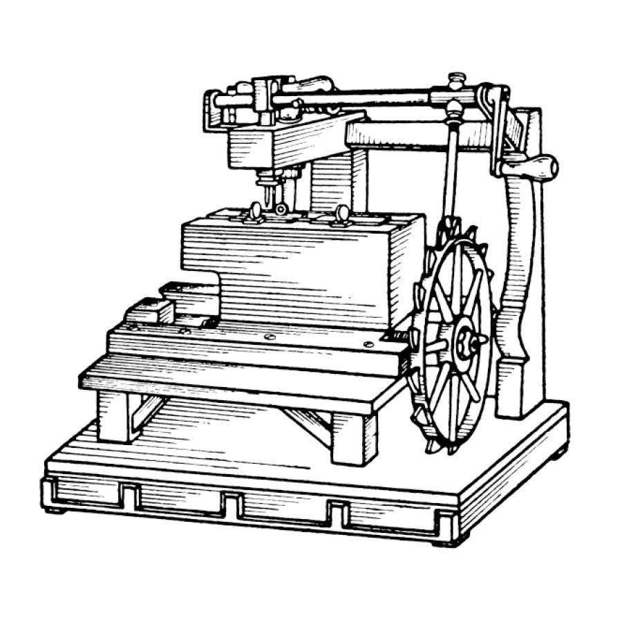 Skizze der Nähmaschine von Thomas Saint | mey®
