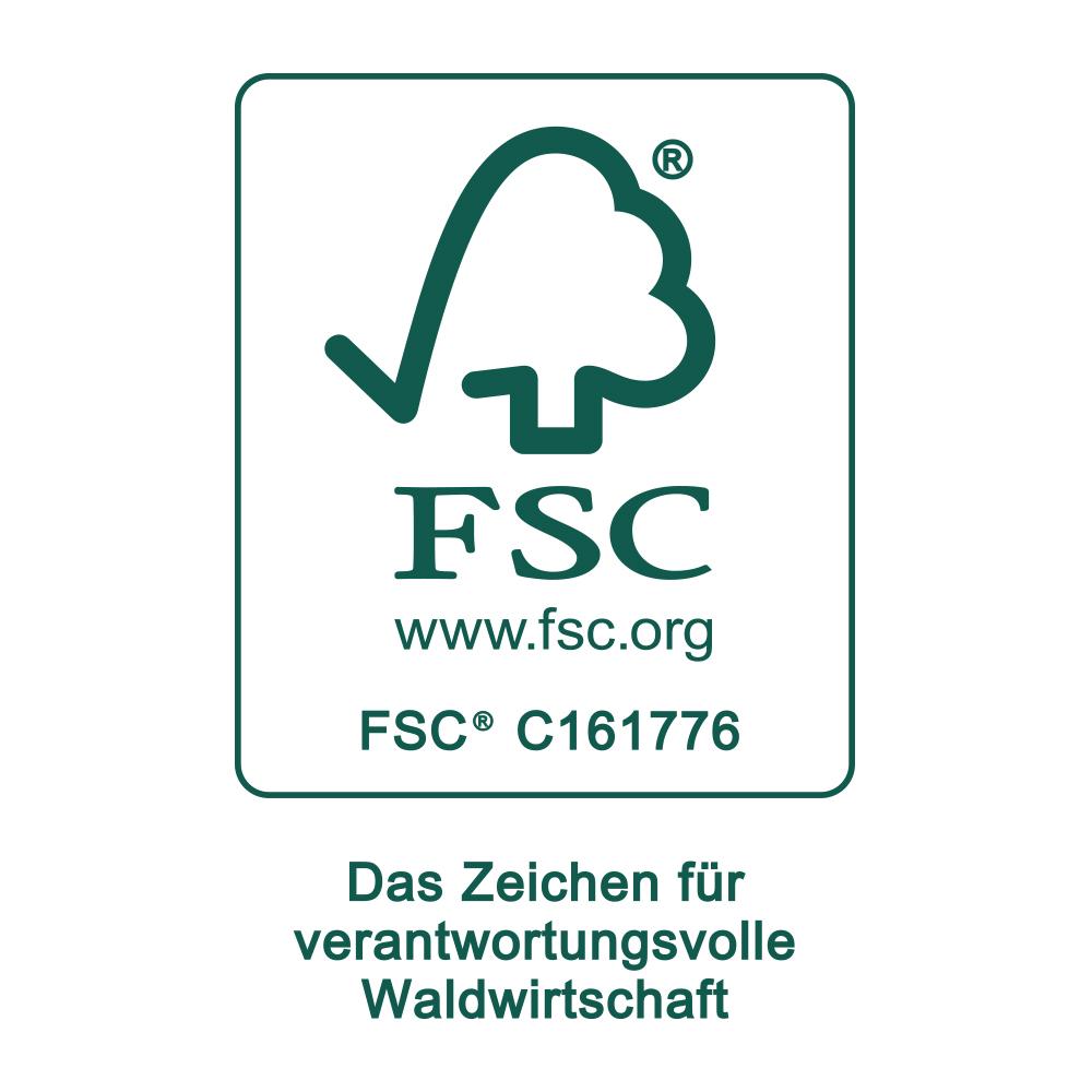 Siegel der Zertifizierung mit FSC® | mey®