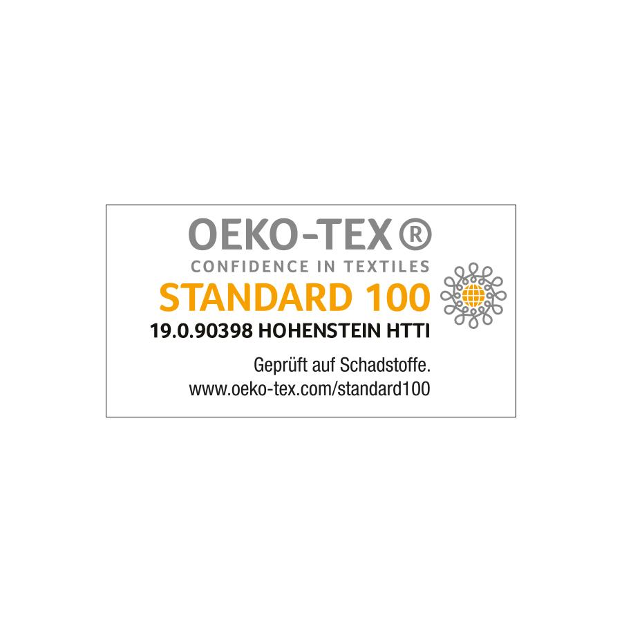 Zertifizierungs-Siegel für den STANDARD 100 by OEKO-TEX® für alle Materialien von mey®