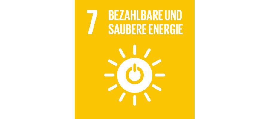 Icon SDG Nr. 7 bezahlbare und saubere Energie | mey®