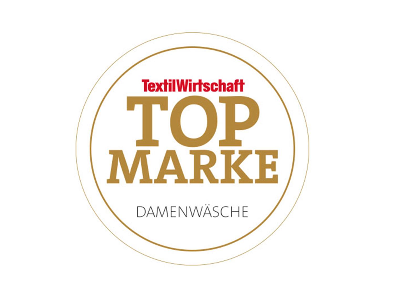 Siegel des Magazins Textilwirtschaft für die TOPMARKE DAMENWÄSCHE 2018 Auszeichnung für mey®