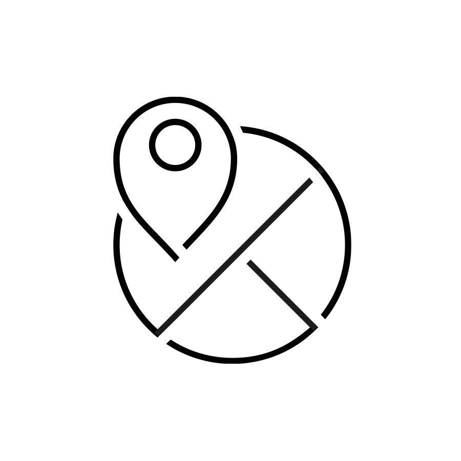 symbool ideaalbeeld standpunt, kaart met pinpoint   mey®