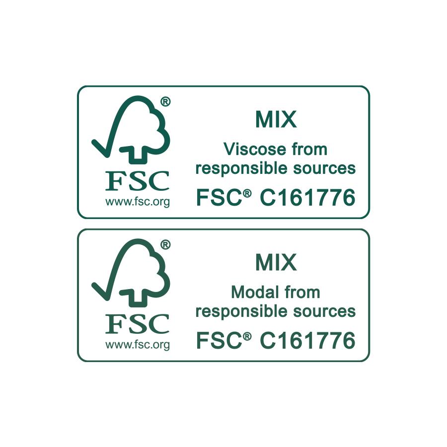 Certification seal of FSC® | mey®