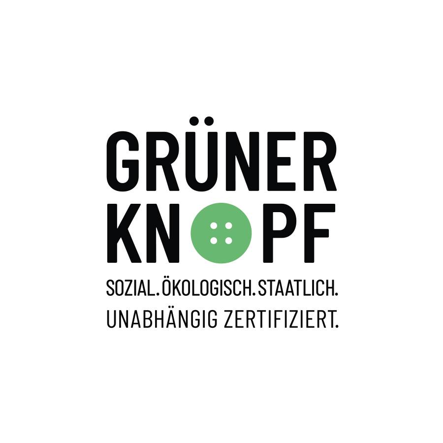 """Certification seal of the """"Grüne Knopf"""" 