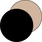 Mey® Serie Best Of Farben Schwarz und Soft Skin, runde Farbflächen