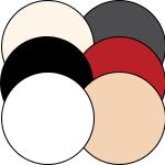 Mey® Serie Best Of Farben Weiß, Schwarz, Cream Tan, Rubin, Champagner, New Black Diamond, runde Farbflächen